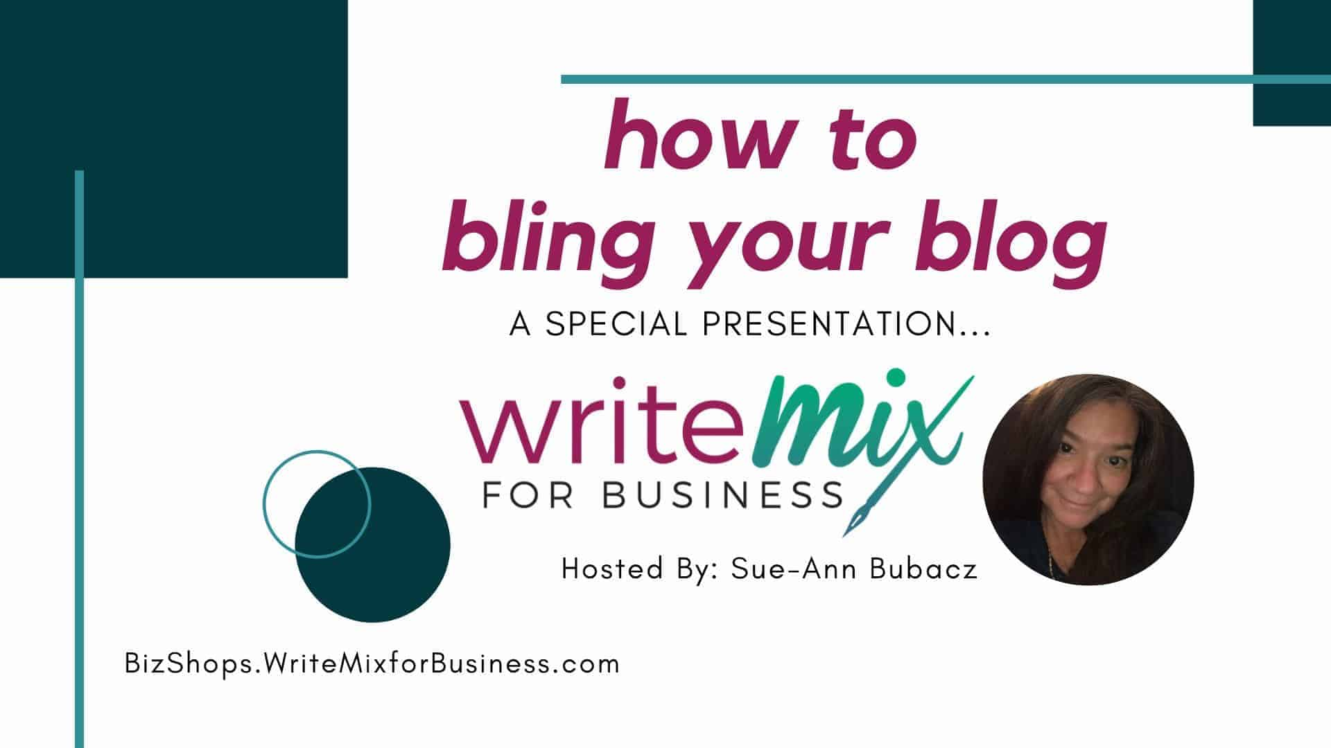How to Bling Your Blog, part ii
